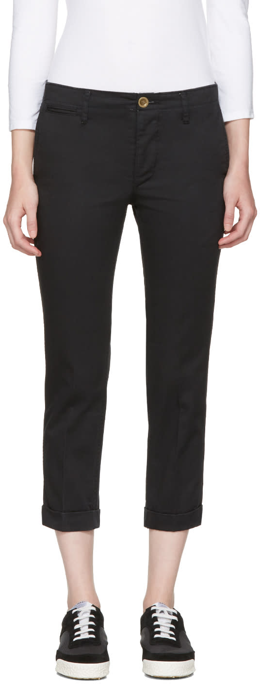Visvim Black High-water Chinos