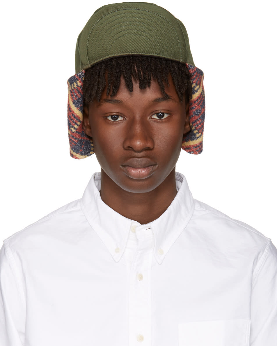 Visvim Green Aviator Hat