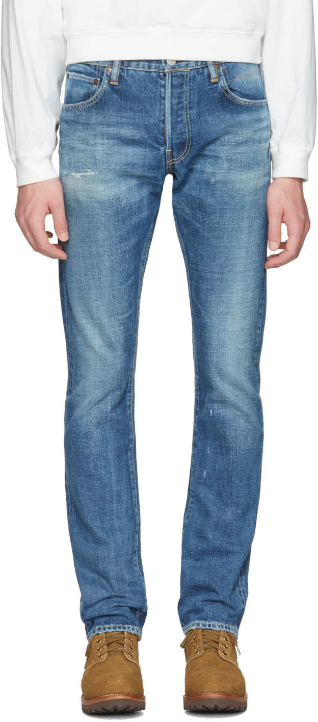 Visvim Blue Slim Social Sculpture 01 Jeans