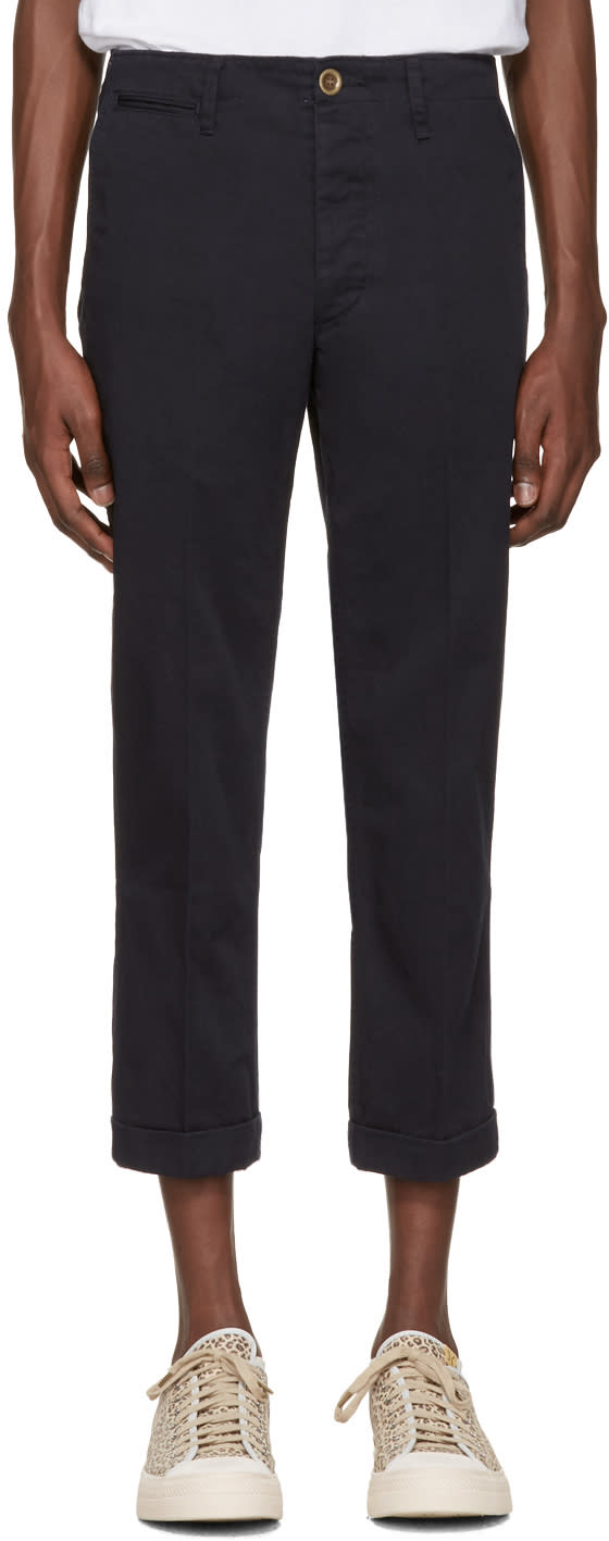 Visvim Navy High Water Chinos