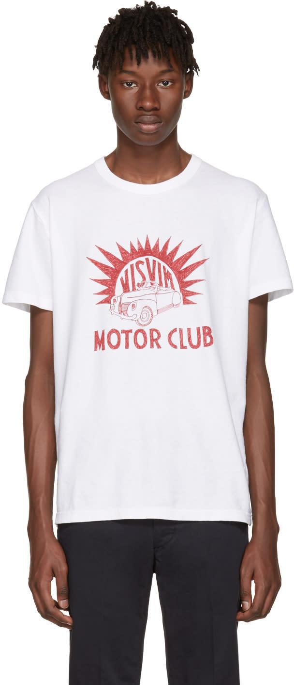 Visvim ホワイト Motor Club ビンテージ T シャツ