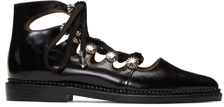 Toga Pulla Black Lace-up Boots