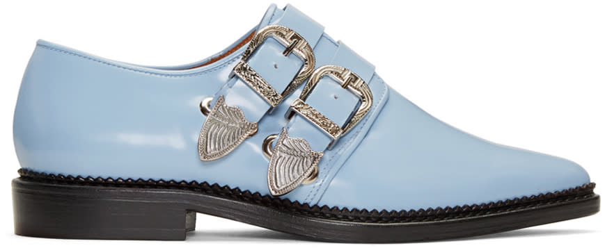 Toga Pulla Blue Two-buckle Loafers