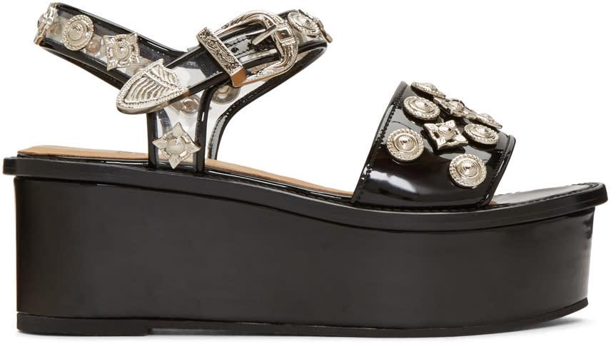 Toga Pulla Black Platform Sandals