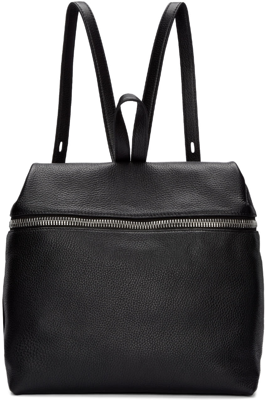 Kara Black Large Leather Backpack