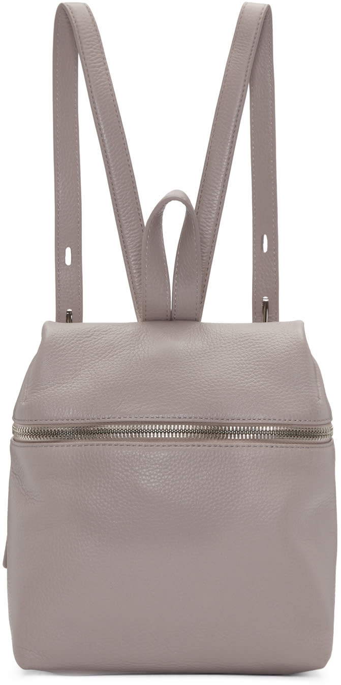 Kara Pink Leather Small Backpack
