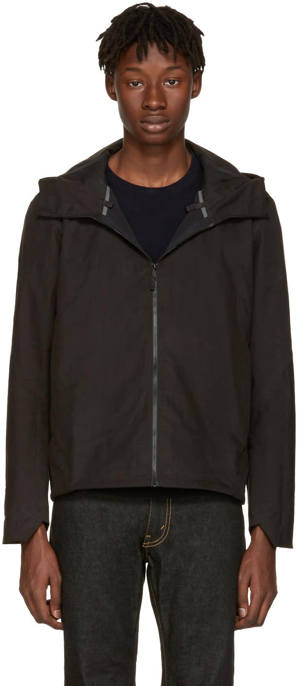Image of Arcteryx Veilance Black Isogon Hooded Jacket
