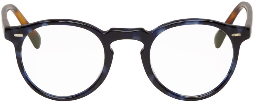 Oliver Peoples Blue Tortoiseshell Gregory Peck Glasses