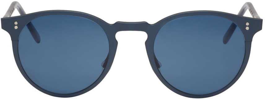 Oliver Peoples Blue Elias Sunglasses