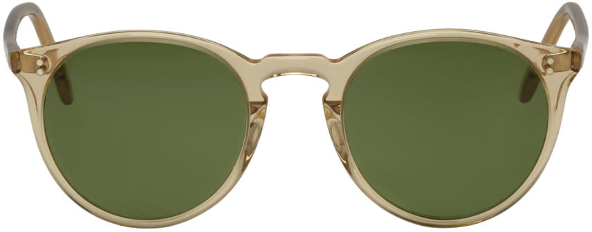 Oliver Peoples Yellow The Row Edition Omalley Nyc Sunglasses