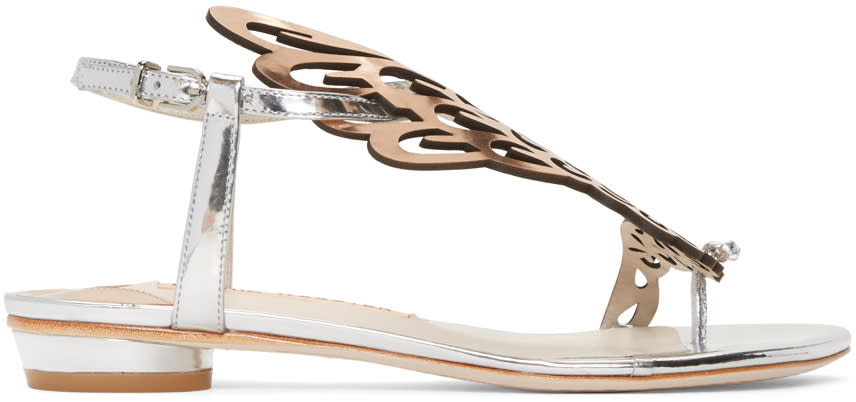 Sophia Webster Silver Patent Seraphina Sandals