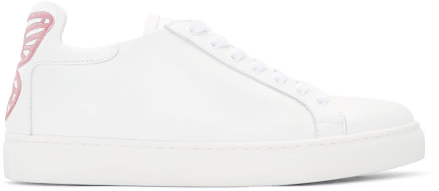 Sophia Webster Ssense Exclusive White Leather Bibi Sneakers
