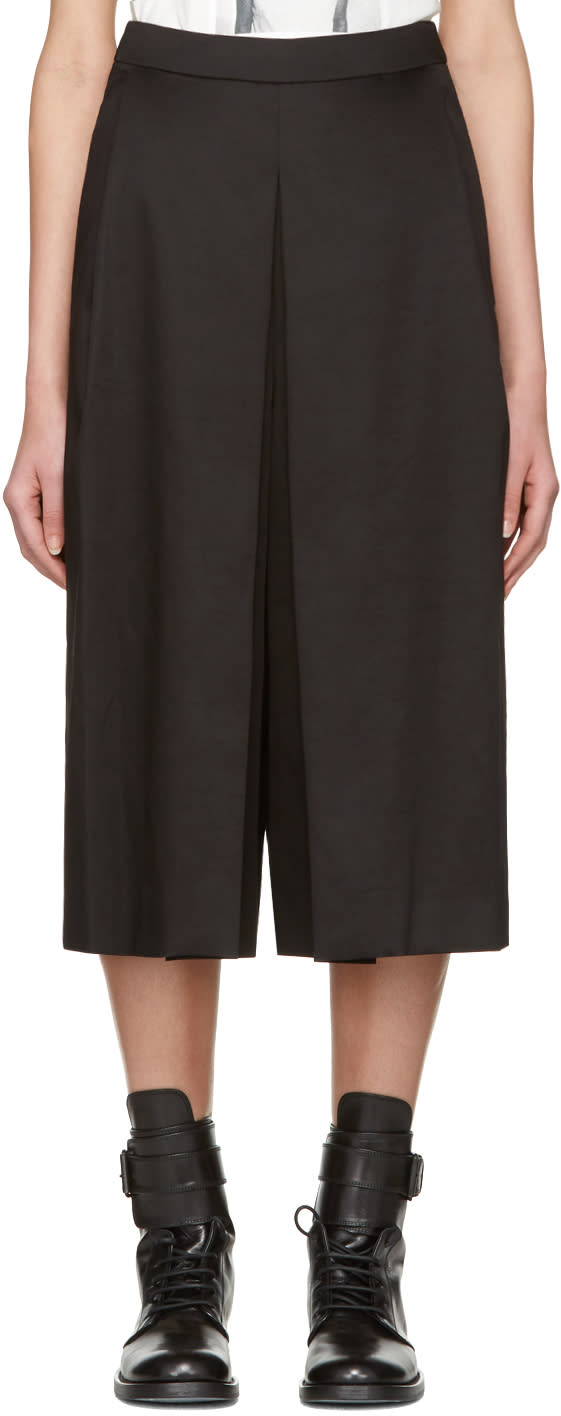 Yang Li Black Wide Culottes