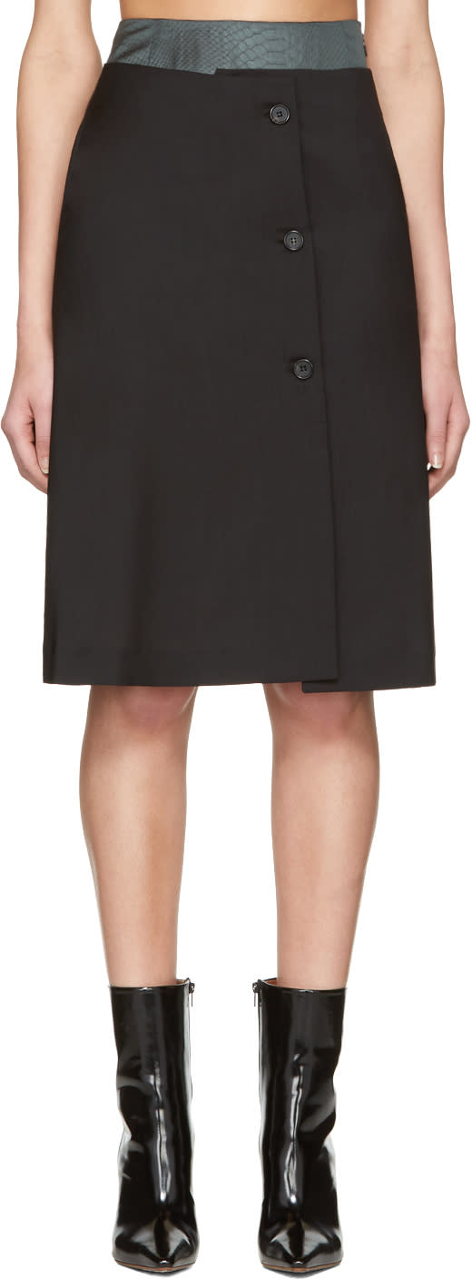 Yang Li Black Double Layer Skirt