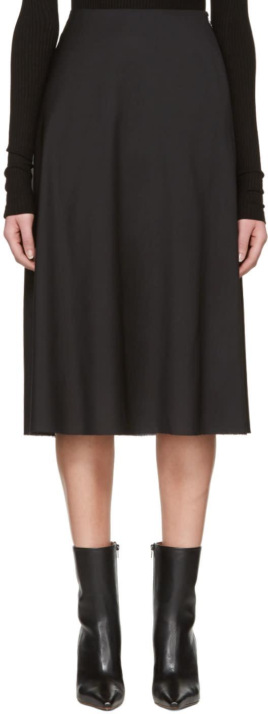 Yang Li Black Minimal Skirt
