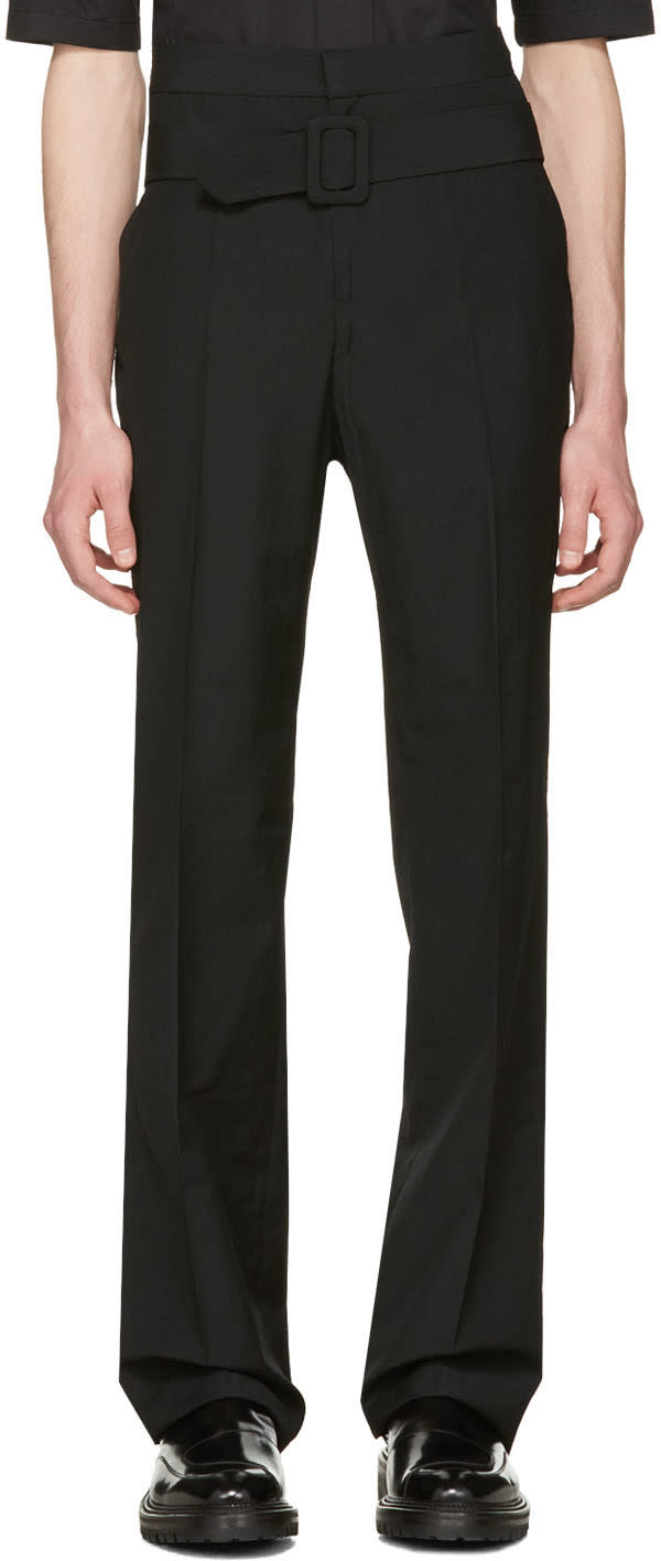 Yang Li Black Belted Trousers