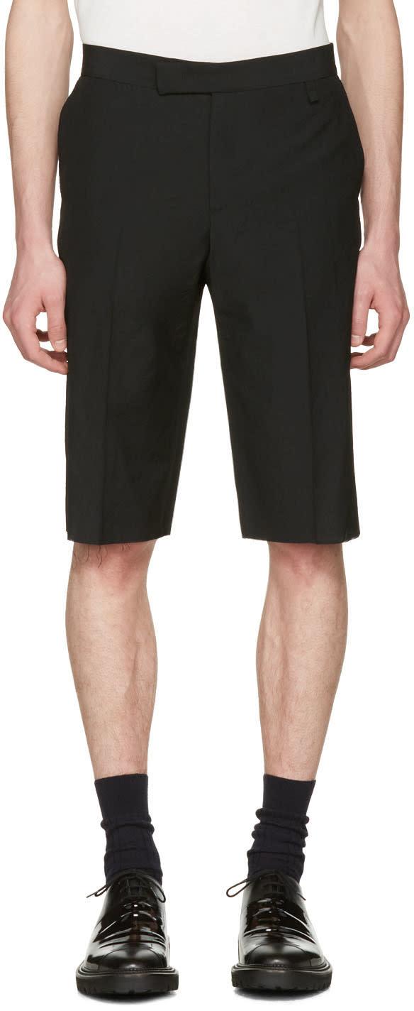 Yang Li Black Classic Cut-off Shorts