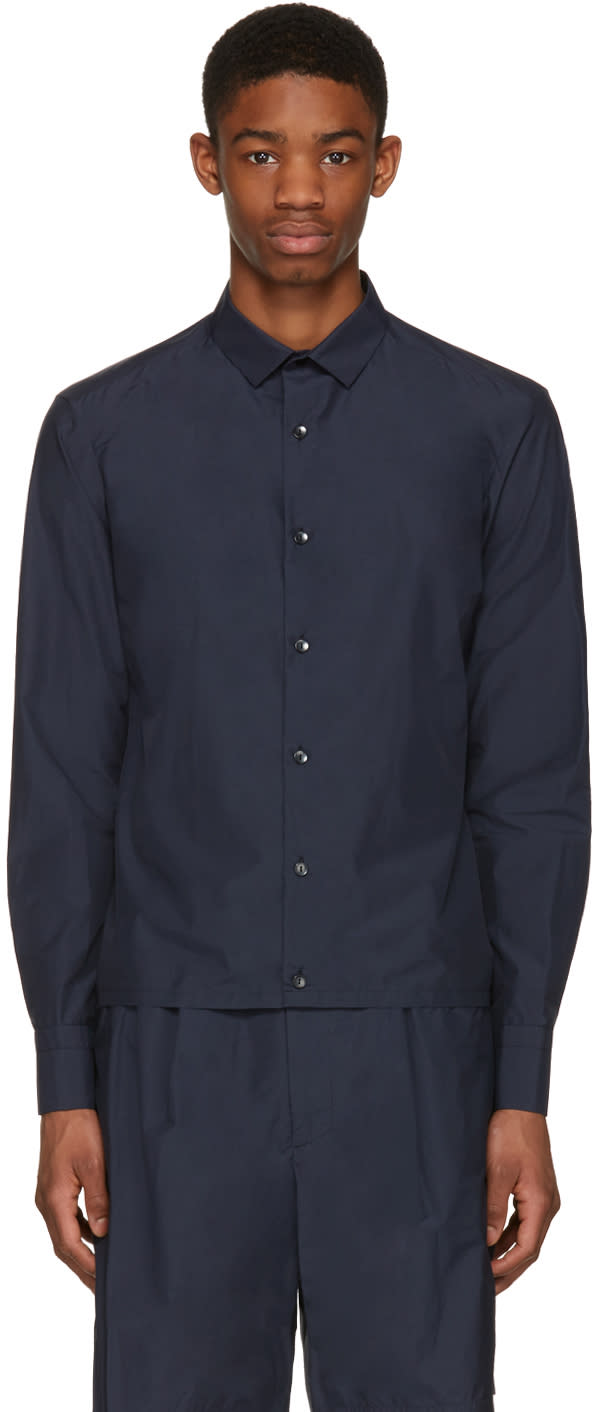 Kolor Navy Button-down Shirt