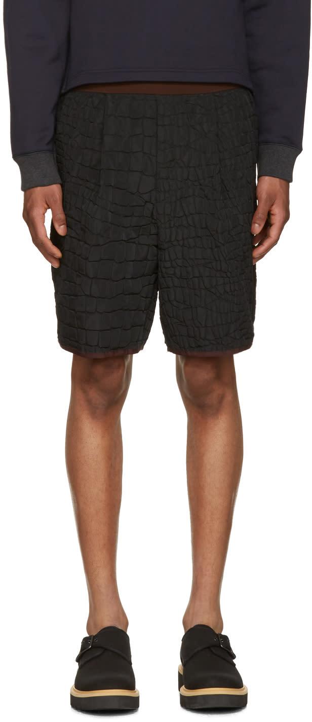 Image of Kolor Black Contrast Waistband Shorts