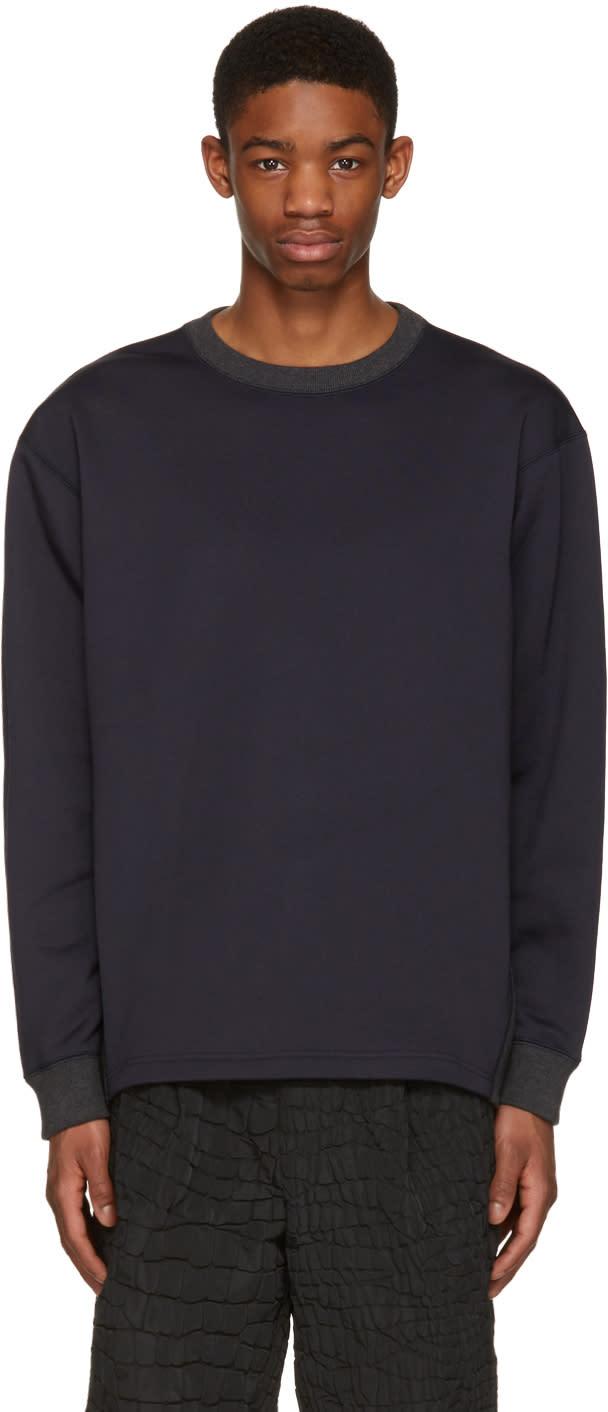 Kolor Navy Contrast Collar Pullover