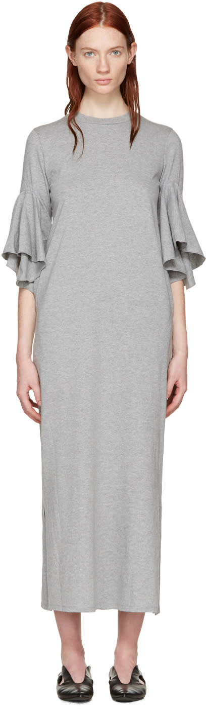 Facetasm Grey Flare Sleeve Dress