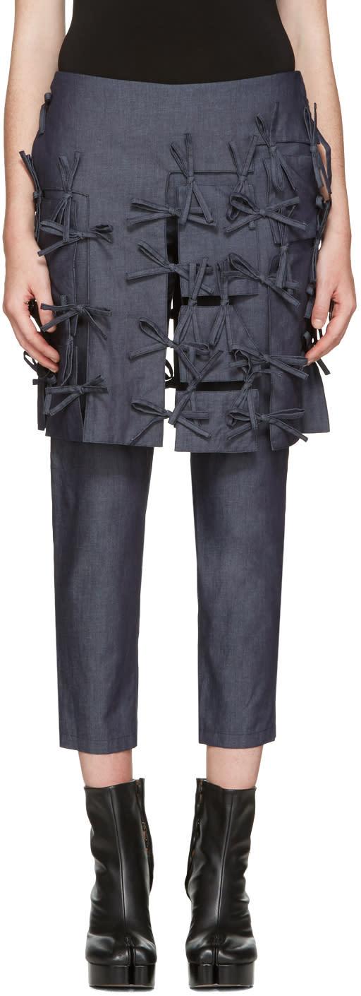 Facetasm Indigo Ties Trousers