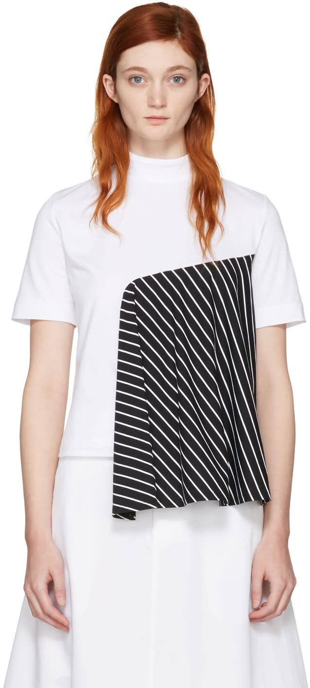 Facetasm Ssense Exclusive White Striped Panel T-shirt