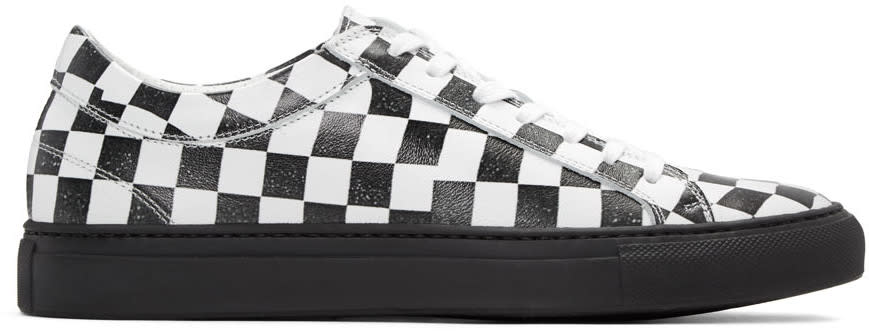 Facetasm Black and White Checkered Sneakers