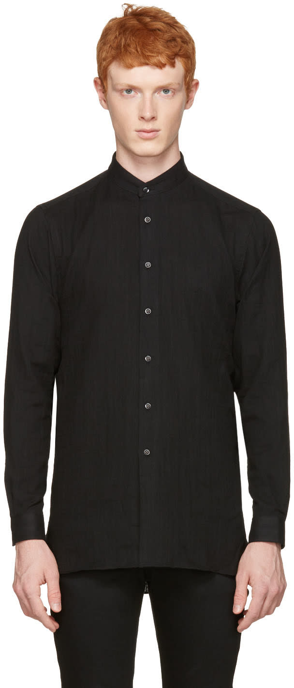 Image of Naked and Famous Denim Black Long Shirt