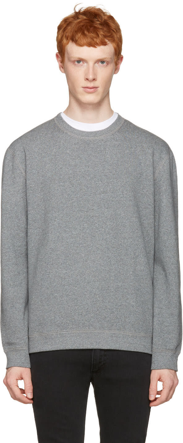 Naked and Famous Denim Grey Slim Pullover