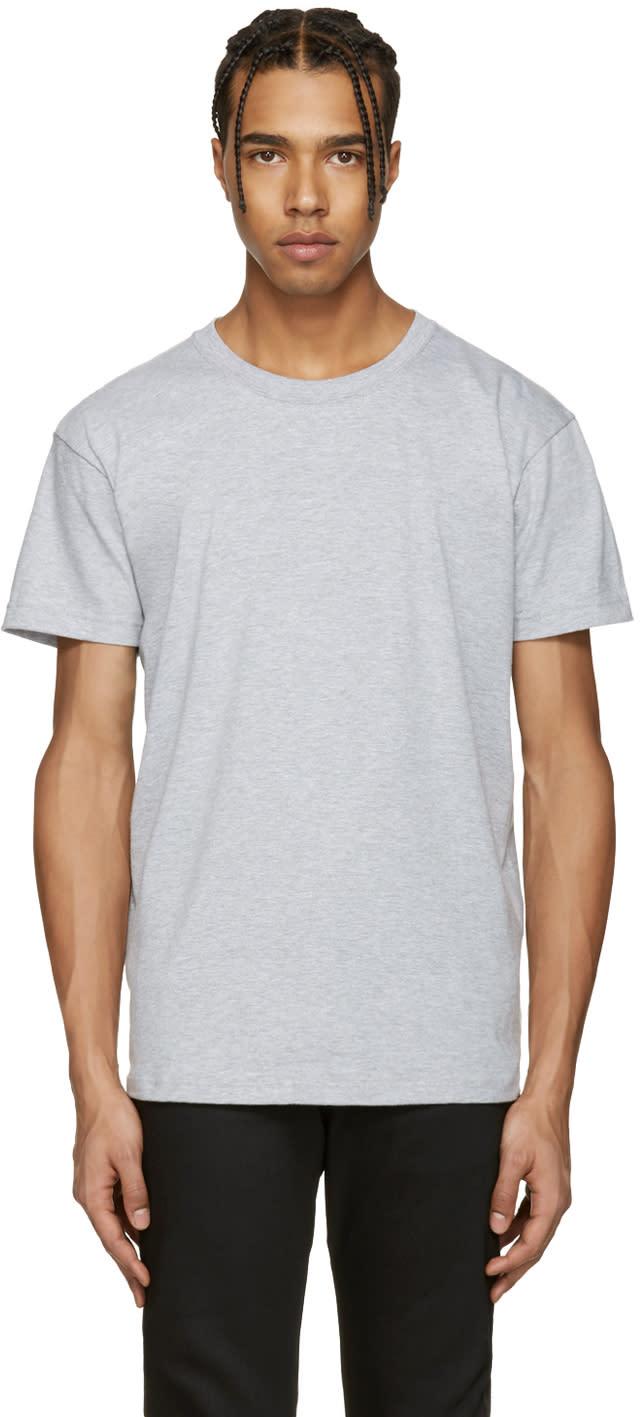Naked and Famous Denim Grey Ring-spun T-shirt
