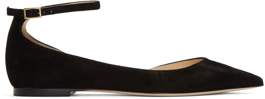 Jimmy Choo Black Suede Lucy Flats