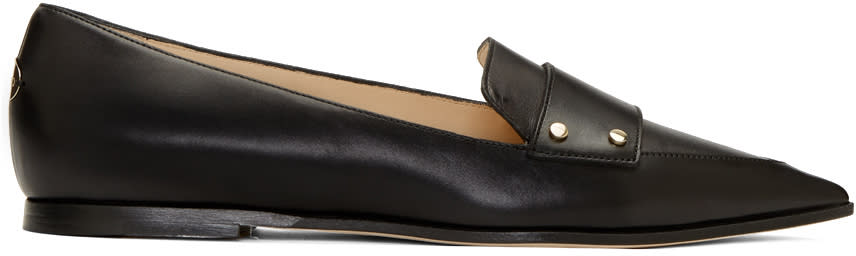 Jimmy Choo Black Leather Gia Loafers