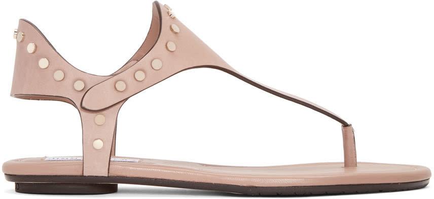 Jimmy Choo Beige Studded Dara Sandals