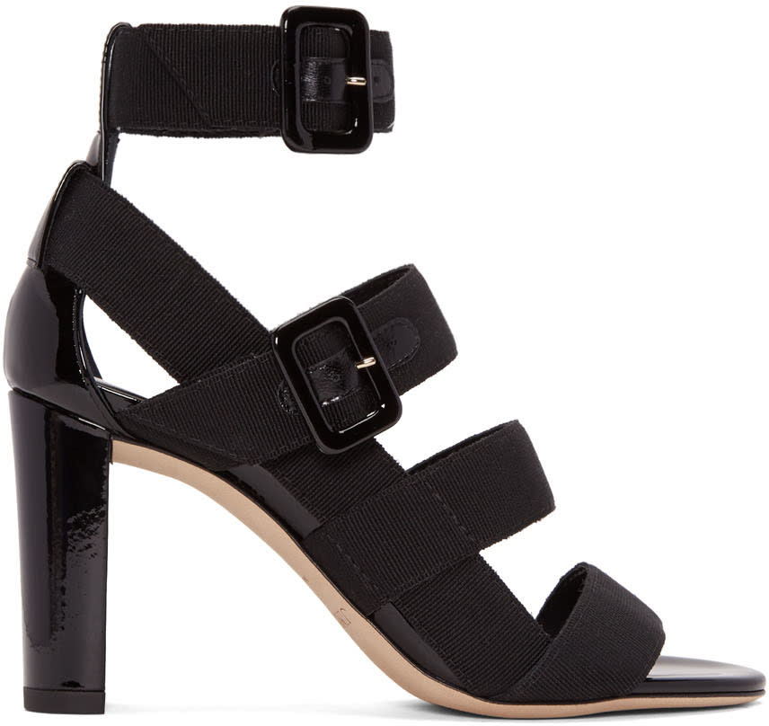 Jimmy Choo Black Maya Sandals