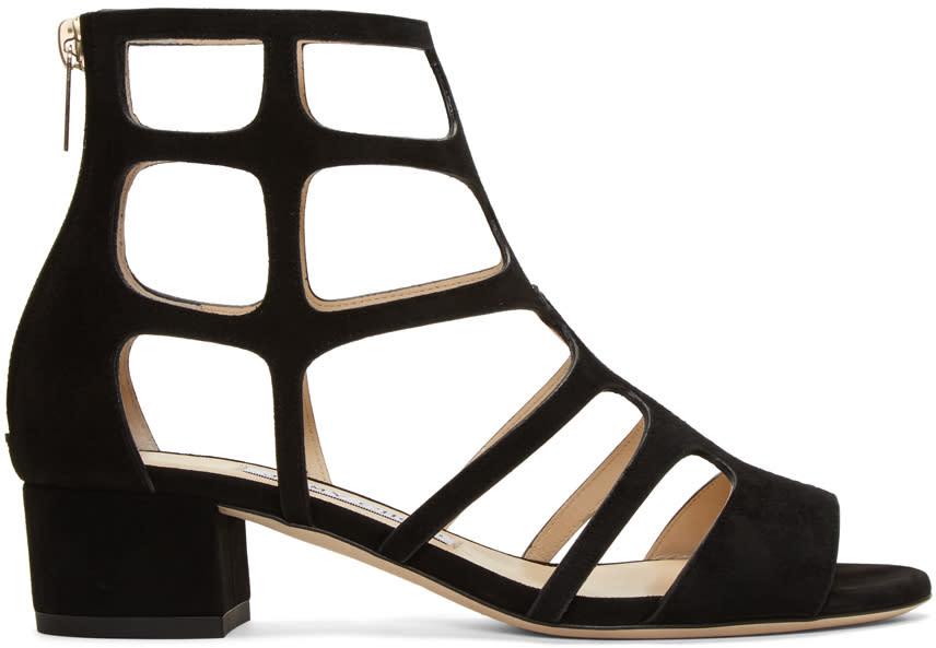Jimmy Choo Black Suede Ren Sandals