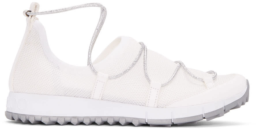 Jimmy Choo White Andrea Sneakers