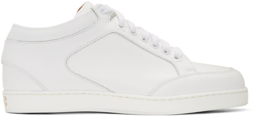 Jimmy Choo White Miami Sneakers