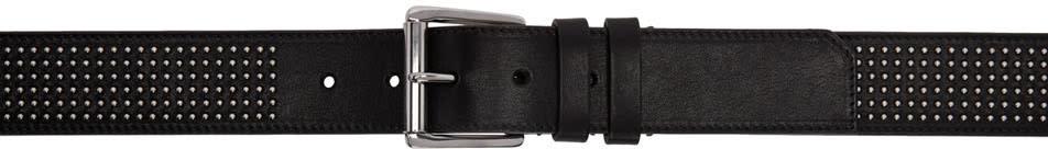 Jimmy Choo Black Mini Studs Archer Belt