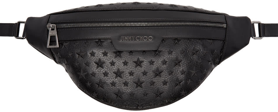 Jimmy Choo Black Star Zip Pouch