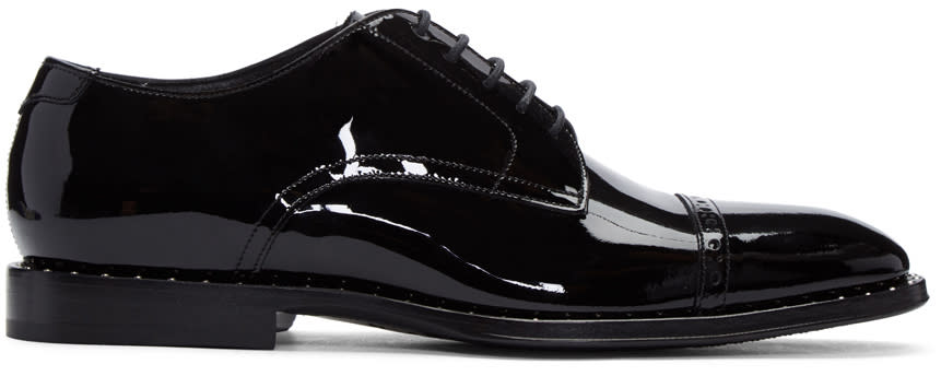 Jimmy Choo Black Patent Leather Penn Oxfords