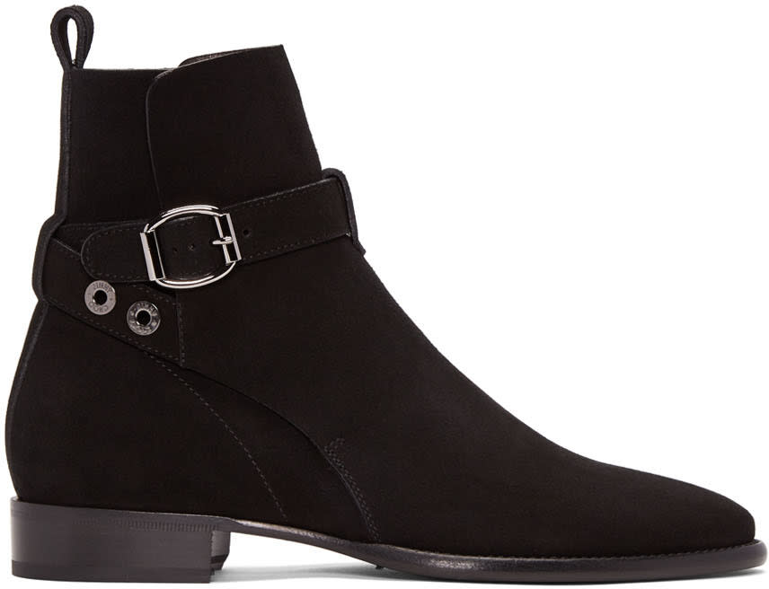 Jimmy Choo Black Suede Holden Boots