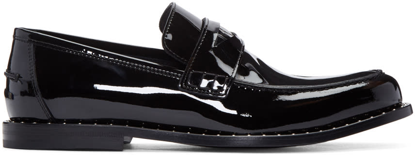 Jimmy Choo Black Studded Darblay Loafers