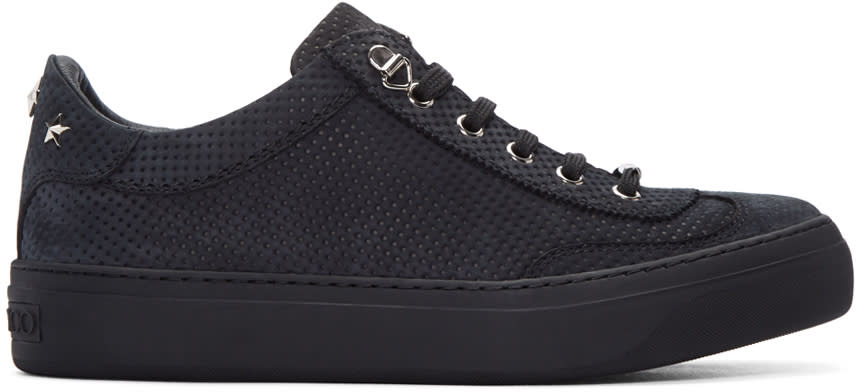 Jimmy Choo Grey Nubuck Perforated Ace Sneakers