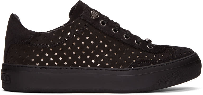 Jimmy Choo Black Suede Ace Sneakers