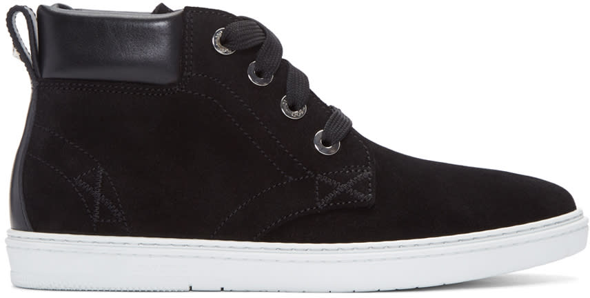 Jimmy Choo Black Suede Smith High-top Sneakers
