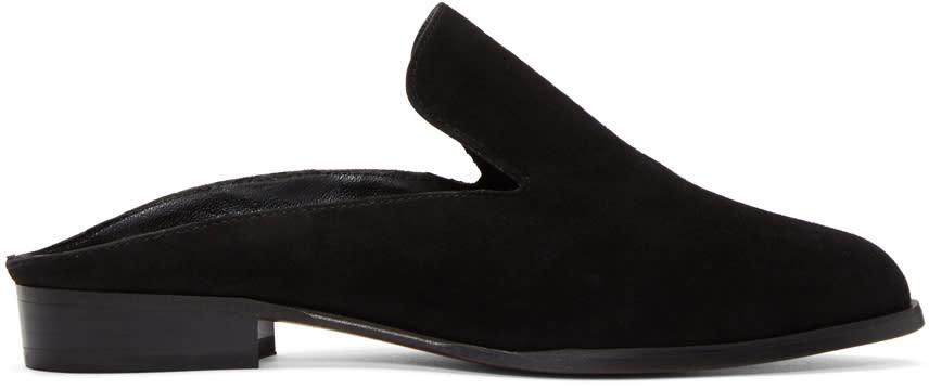 Robert Clergerie Black Suede Alicem Slip-on Loafers