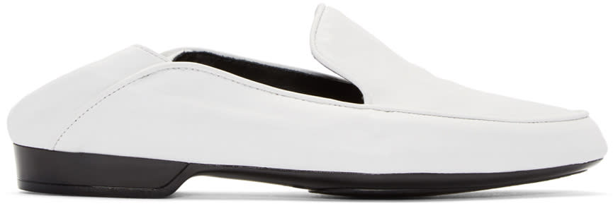 Robert Clergerie White Fanim Loafers