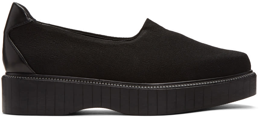Robert Clergerie Black Pauli Jersey Slip-on Sneakers
