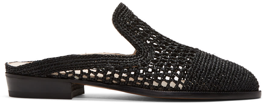 Image of Robert Clergerie Black Antes Slip-on Loafers